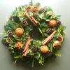 Chrimas wreath natural orange