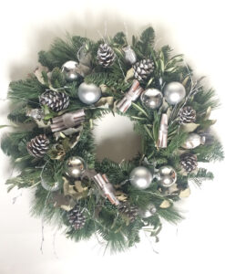 Christmas wreath silver