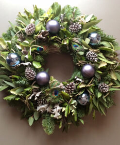 Christmas wreath peacock
