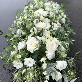 casket spray white
