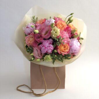 peony bouquet pastel