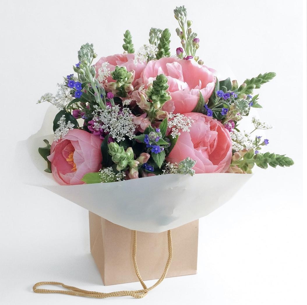 vintage peony bouquet