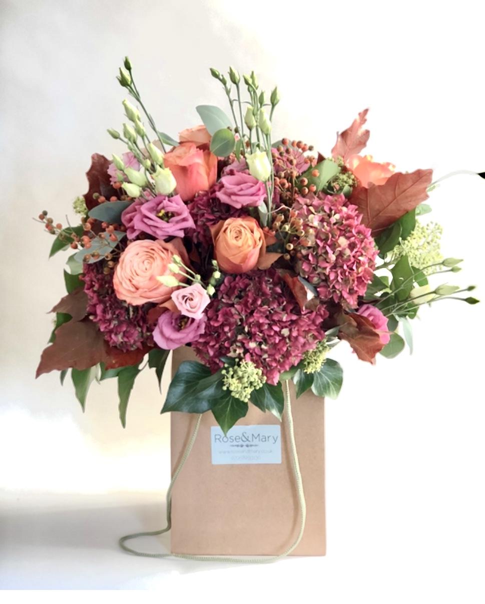 autumn bouquet pastel
