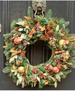Christmas wreath natural red