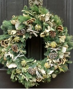 Christmas wreath natural lime