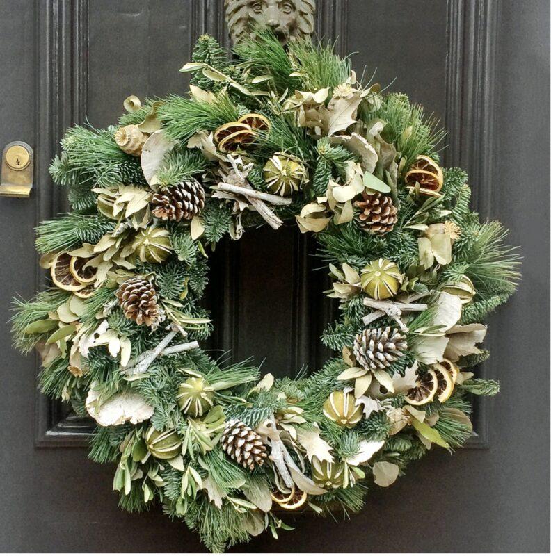 Christmas wreath natural lime